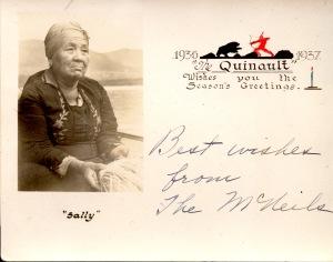 Sally 1937 Christmas Card