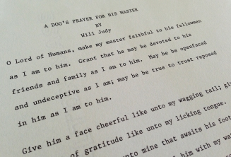 A glimpse of the typed copy of Capt. Judy's poem.