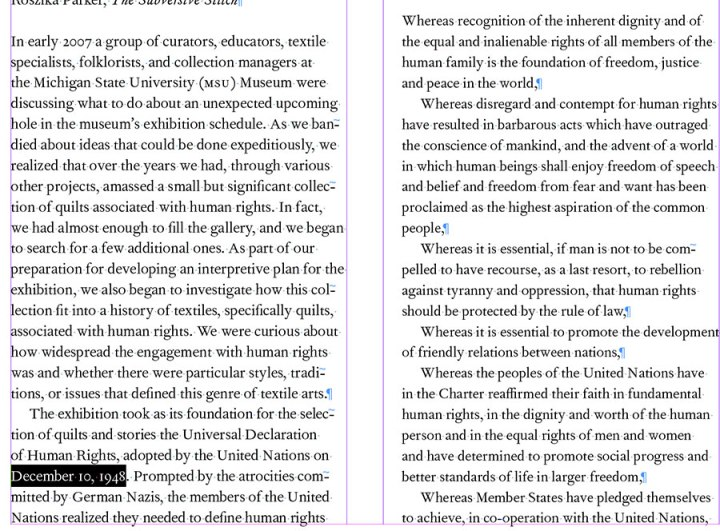 Quilts and Human Rights_preface screenshot
