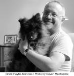 Hayter-Menzies w dog Freddie_