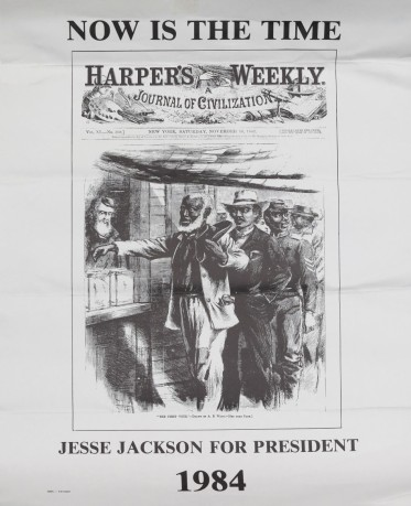 This hard-hitting use of history makes for an effective political poster.